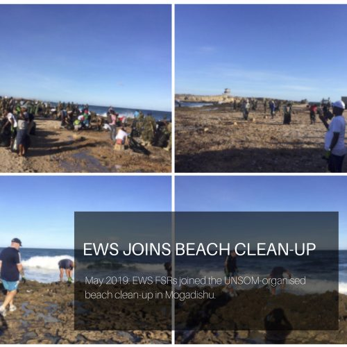 EWS FSRs join UNSOM beach clean up in Mogadishu