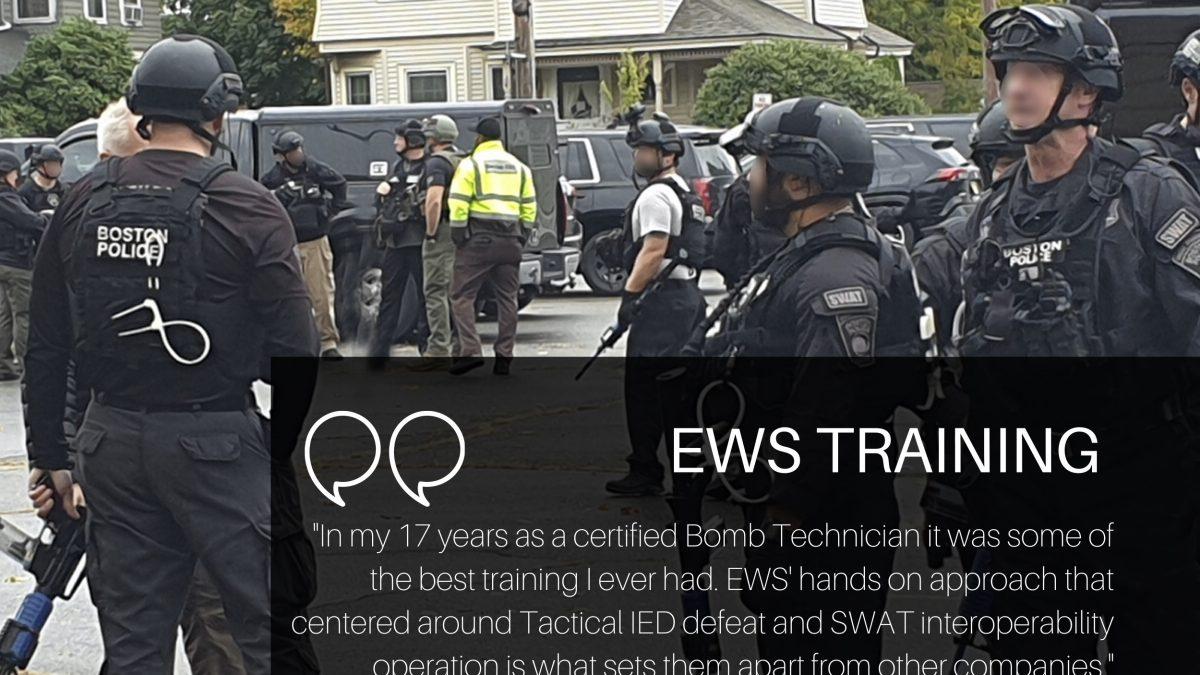 EWS training the Boston Bomb Squad