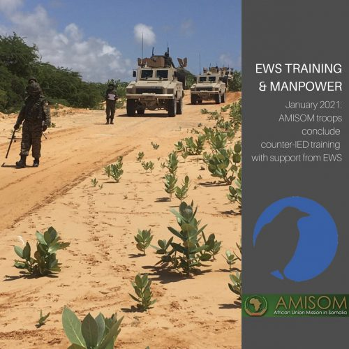 AMISOM troops conclude counter IED training with help from EWS