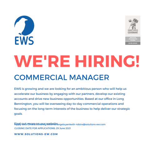 EWS would like to hire a Commercial Manager