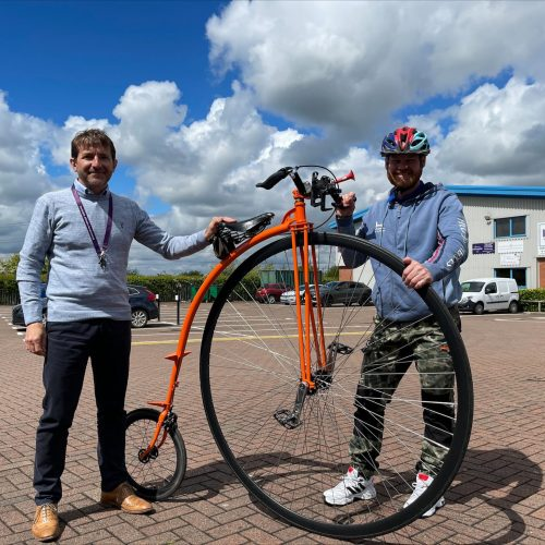 Dean Williams from Help For Heroes and Eddie Edwards from EWS