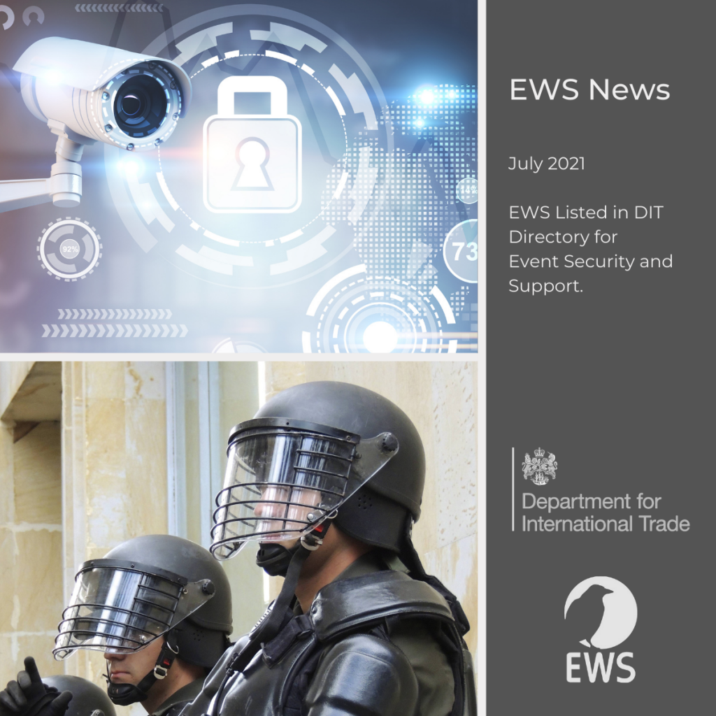 EWS recognised by DIT for Event Security and Support